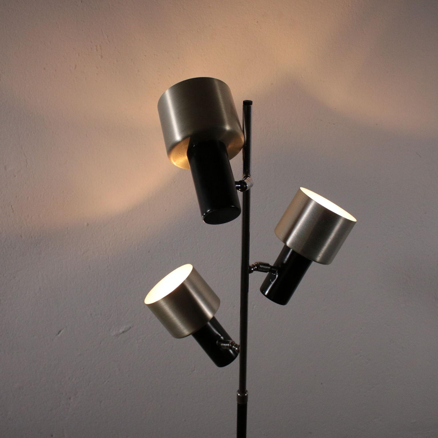 Stehlampe Aluminium Metall Marmor Vintage Italien 60er 70er Jahre