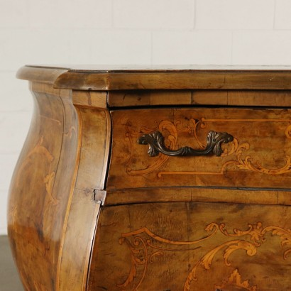 Chest of Drawers Late Baroque Style Walnut Italy First Half of 1900s