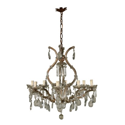 Marie Therese Chandelier Crystal Italy Early 20th Century