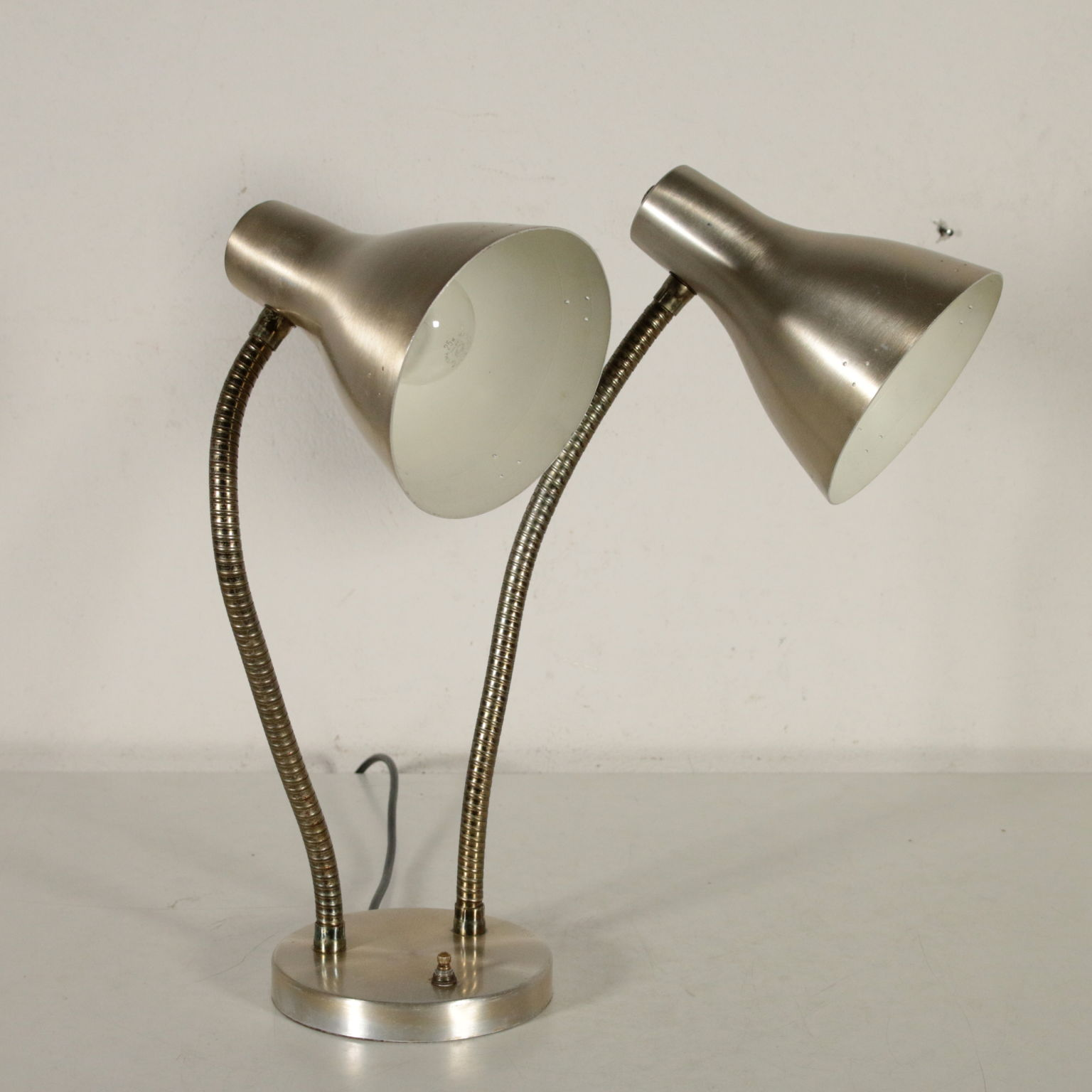 Aluminium Fabriqué Lampe Années De 70 Table Italie Chromé En MGqzpSUV