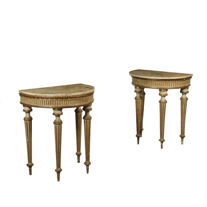 Pair of Neoclassical Console Tables Italy 18th Century