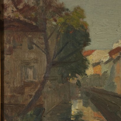 Glimpse by Riccardo Viriglio Milan The Canal in Via S. Damiano 1929