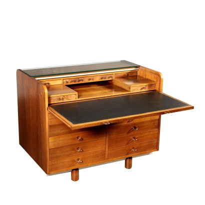 Writing Desk by Gianfranco Frattini for Bernini Vintage Italy 1970s