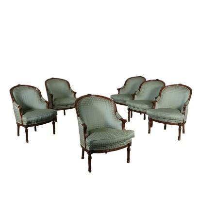 Gruppo Sei Poltrone in Stile - Mobili in stile - Bottega del 900 ...