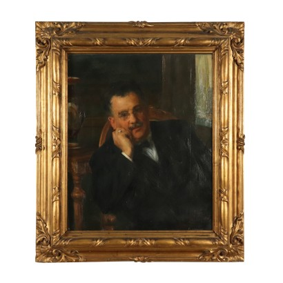 Male Portrait by Luigi Brignoli Oil Painting 1924