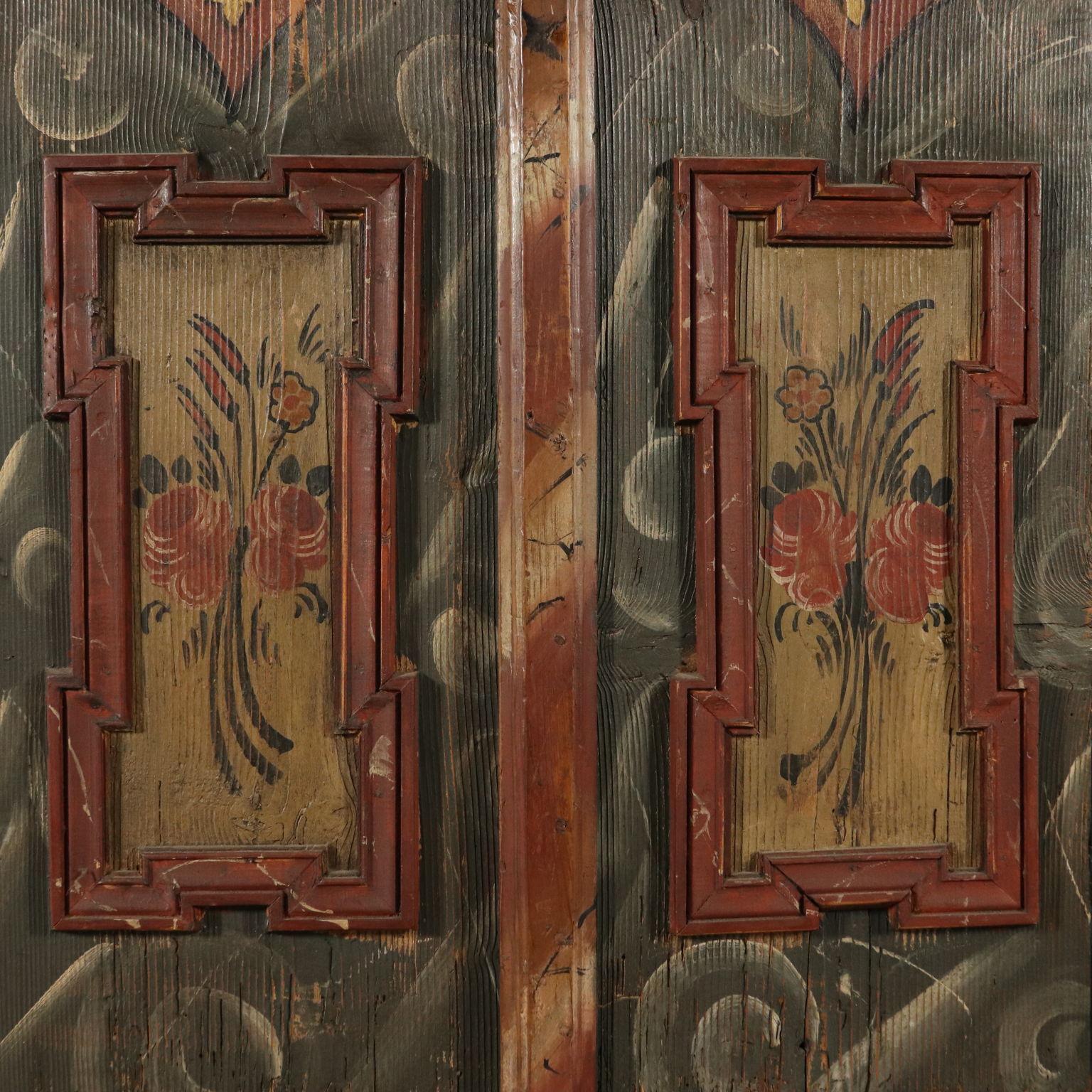 Armadi Tirolesi Dipinti armadio dipinto tirolese - armadi - antiquariato