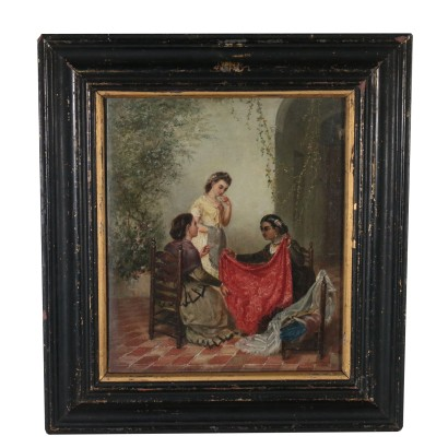 Alvaro Miron The Choice of Fabrics Oil Painting 1872