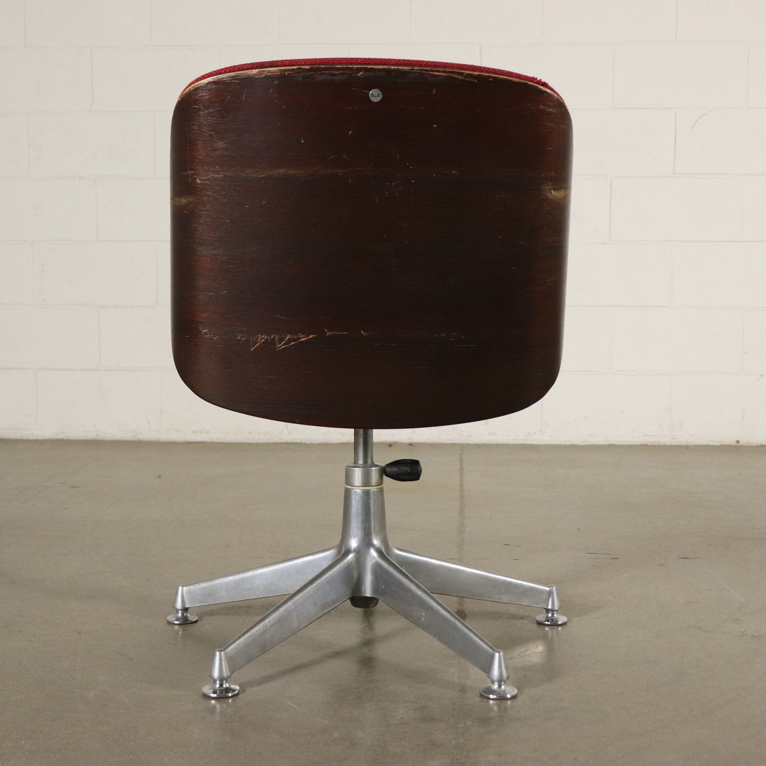 Swivel Office Chair Designed By Ico Parisi Vintage Italy 1970s