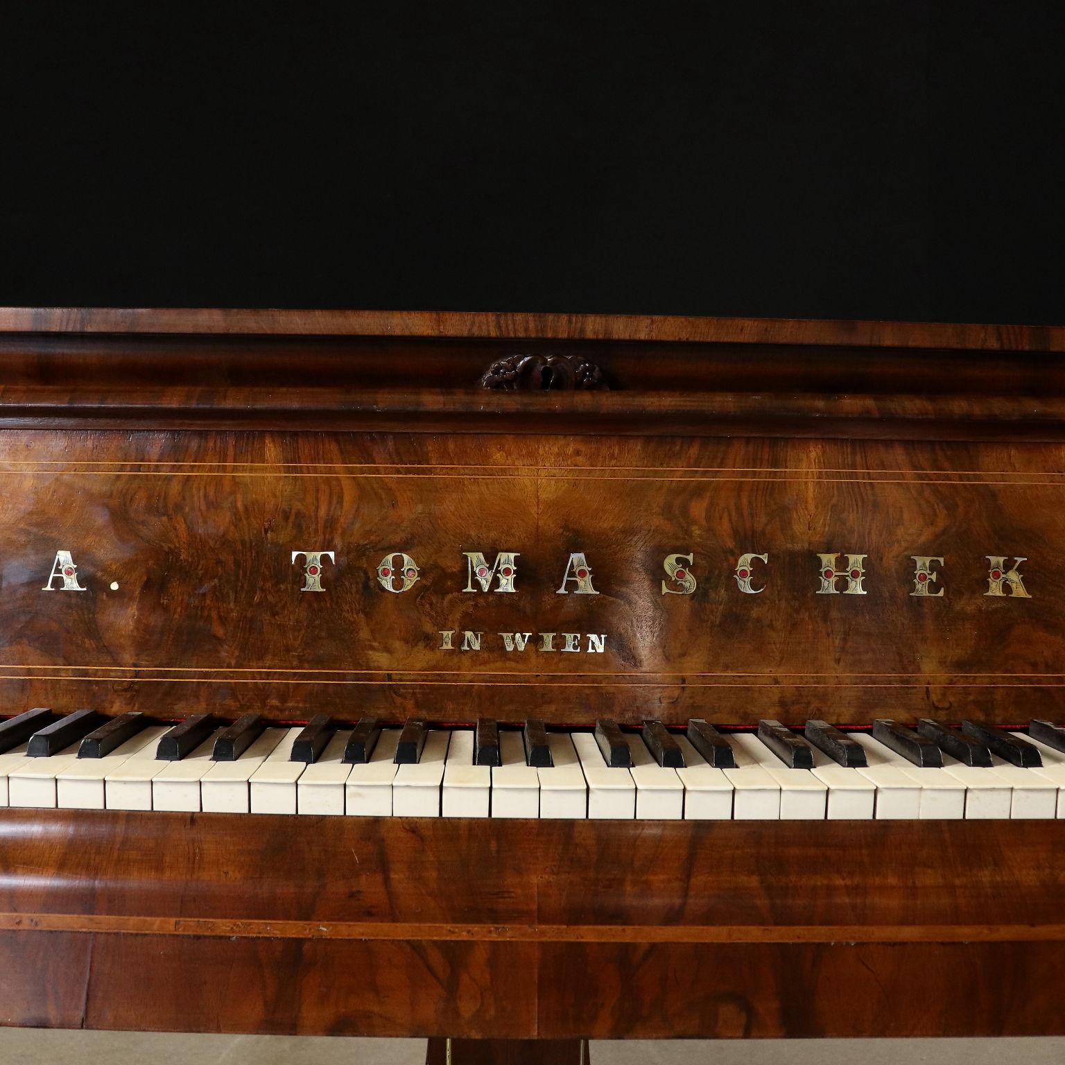 Tomaschek Grand-Piano Walnut Vienna Austria Mid 1800s