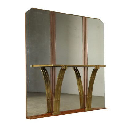 Console Table with Mirror Vintage France 1930s-1940s