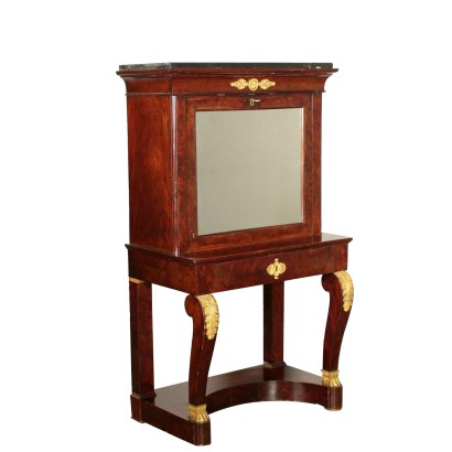 Writing Desk with Mirror Mahogany France 19th Century