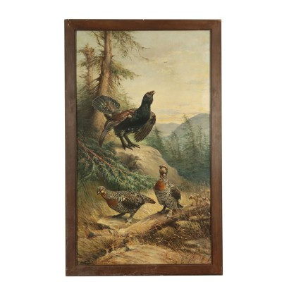 The Grouse Oil Painting Early 20th Century