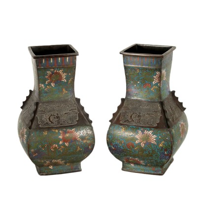 Pair of Cloisonne Vases Japan 19th Century