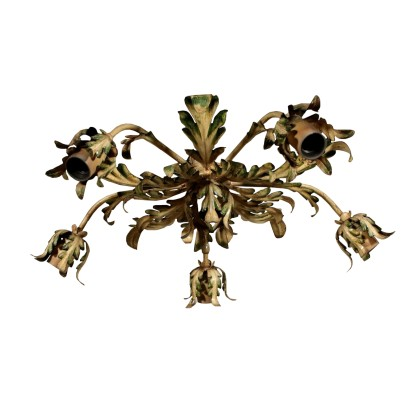 Chandelier with Sheet Leaves Italy 20th Century