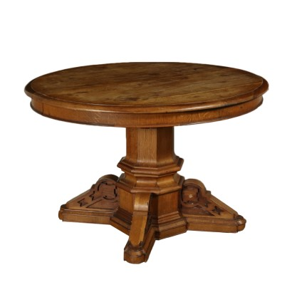 Extending Elliptical Table Italy Second Half of 1900s
