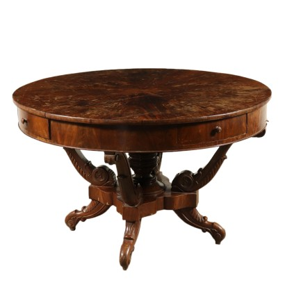 Round Table Mahogany Italy 19th Century