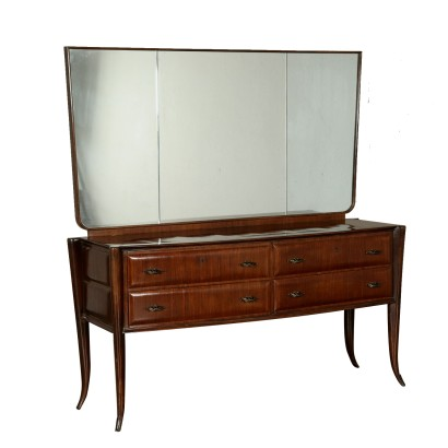 Chest of Drawers with Mirror Vintage Italy 1950s