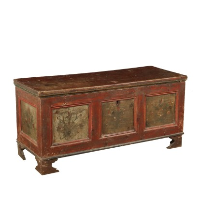 Painted Lacquered Storage Bench Italy Late 1700s
