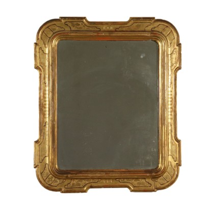 Shaped Gilded Mirror Italy Mid 19th Century
