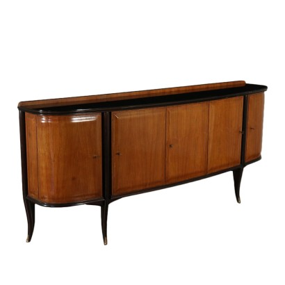 Buffet Designed for Dassi Brass Vintage Italy 1950s