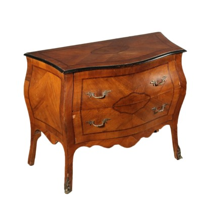 Revival Chest of Drawers Walnut Rosewood First Half of 1900s