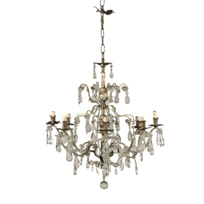 Chandelier Glass Pendants Italy Late 19th Century