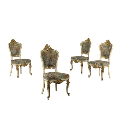 Set of Four Chairs Louis Philippe Italy Mid 1800s