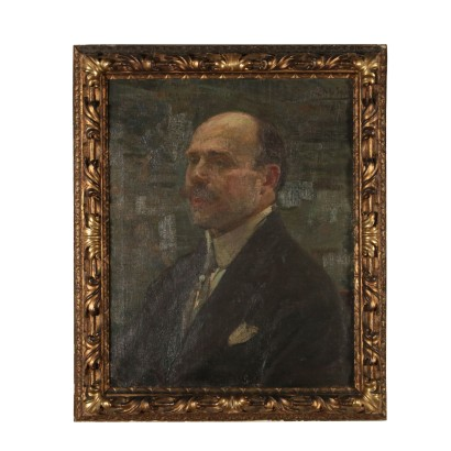 Alessandro Milesi Portrait of a Man Oil Painting 1921