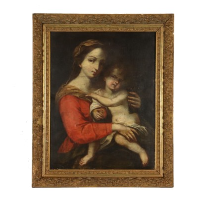 Madonna with Child Oil Painting 18th Century