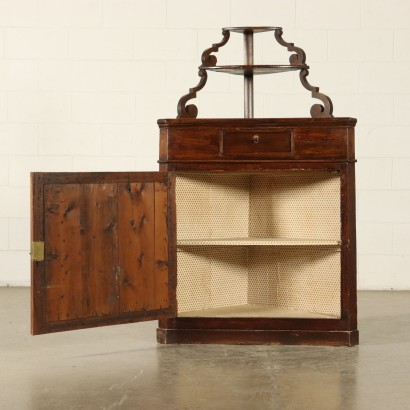 Corner Cabinet with Raised Part Italy 19th Century