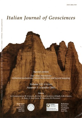 Italian Journal of Geosciences-Bollettino della Società Geologica Italiana. Vol. 132 n. 3 (2013)