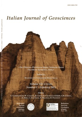 Italian Journal of Geosciences-Bollettino della Società Geologica Italiana. Vol. 132 n. 1 (2013)
