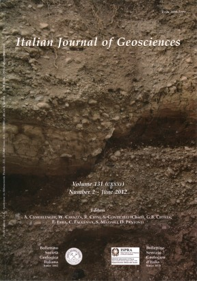 Italian Journal of Geosciences-Bollettino della Società Geologica Italiana. Vol. 131 n. 2 (2012)
