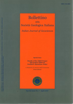 Bollettino della Società Geologica Italiana-Italian Journal of Geosciences. Special issue n. 7 (April 2007)