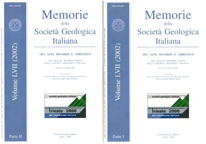 Memories of the Italian Geological Society. Vol. 57 (2002). 2 tomes