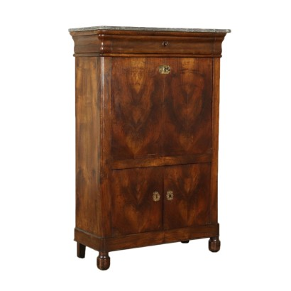 French Walnut Secretaire Mid 19th Century