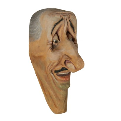 Papier-mache Satirical Mask Italy 20th Century