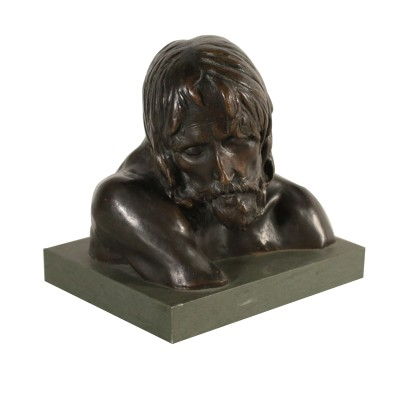 Bust of Christ by Pietro Canonica Bronze Italy 20th Century