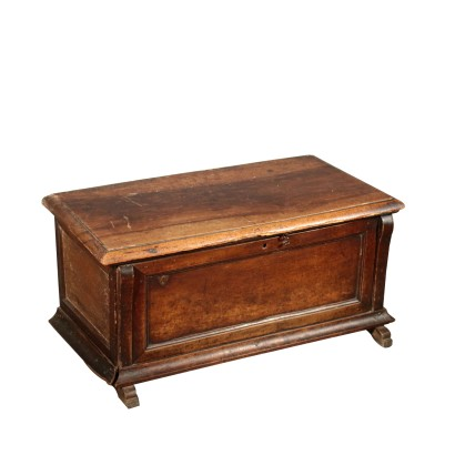 Storage Bench Walnut Boards Italy Late 1700s