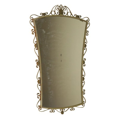 Mirror Wrought Iron Frame Vintage Italy 1950s