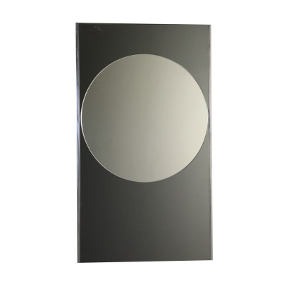 Mirror Metal Outlines Vintage Italy 1960s