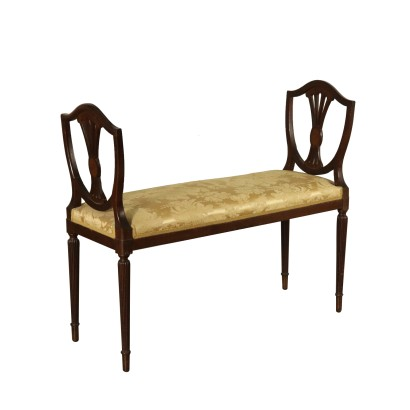 Revival Bench Mahogany Italy 20th Century
