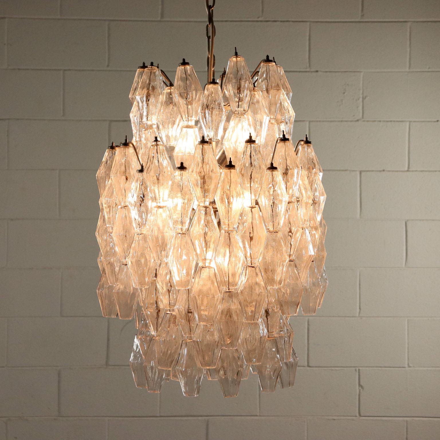 Lampadario Venini Anni 70.Lampada Poliedro Venini Illuminazione Modernariato