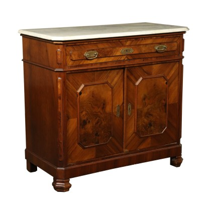 Walnut Cupboard Italy Last Quarter of 1800s