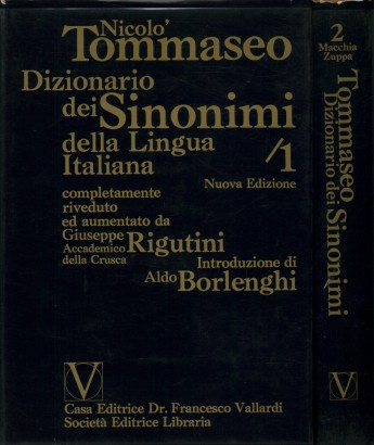 Dictionary of Synonyms of the Italian Language (2 volumes)