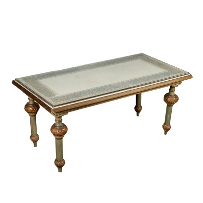 Coffee Table with Scagliola Top Italy Early 1900s