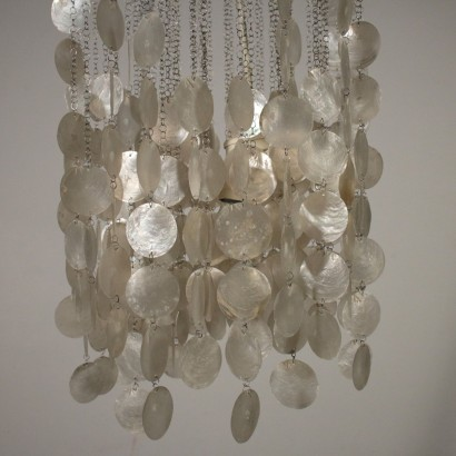 Chandelier Mother-of-pearl Pendants Vintage Italy 1960s