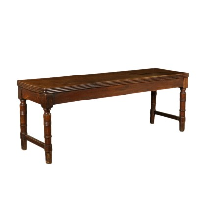 Restoration Table Solid Walnut Italy 19th Century