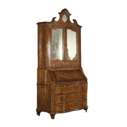 Revival Bureau Bookcase Italy First Half of 1900s