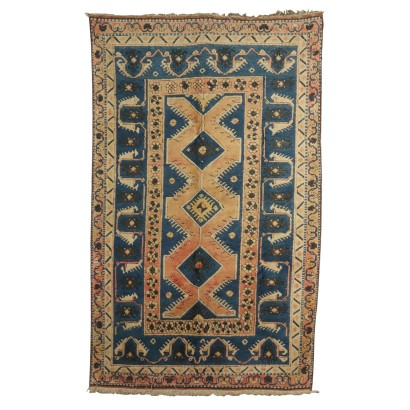 Handmade Kars Carpet Turkey 1960s-1970s